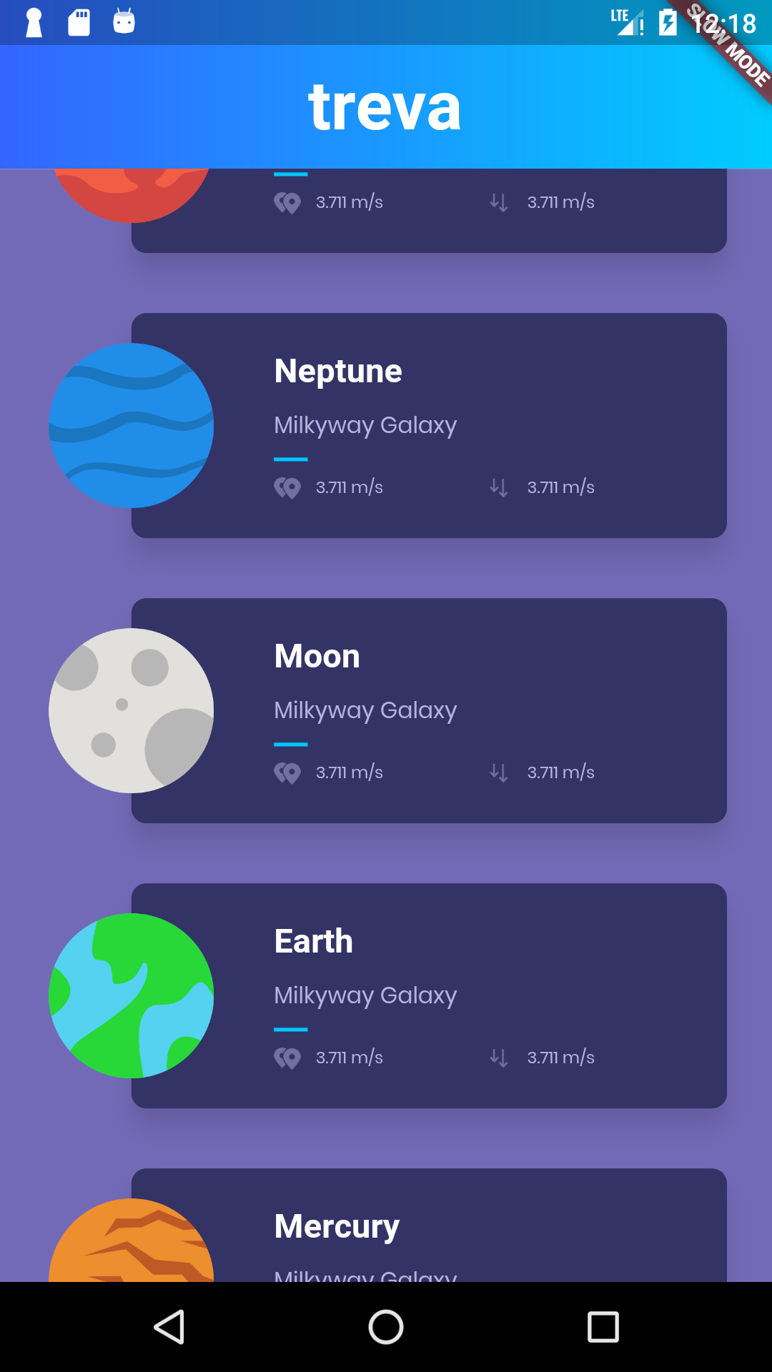Planets-Flutter: routing and navigation